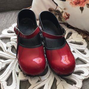 Dansko Shoes - Dansko Cherry Red MaryJane Clogs Shoes Woman's 39